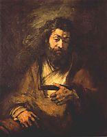 The Apostle Simon, 1661, rembrandt