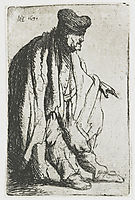 Beggar with his left hand extended, 1631, rembrandt