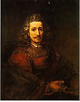 Man with a Magnifying Glass, 1629, rembrandt