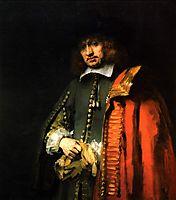 Portrait of Jan Six, 1654, rembrandt