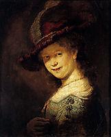 Saskia Laughing, 1633, rembrandt