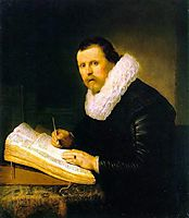 Young Man At His Desk, rembrandt
