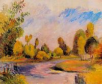 Banks of a River, 1896, renoir