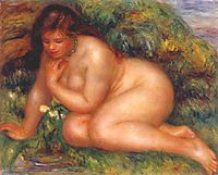 Bather Admiring Herself in the Water, c.1910, renoir
