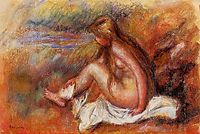 Bather Seated by the Sea, renoir