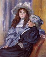 Berthe Morisot and Her Daughter Julie Manet, 1894, renoir