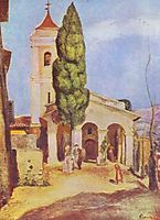 A Church at Cagnes, renoir