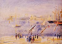 The Old Port of Marseille, People and Boats, 1890, renoir