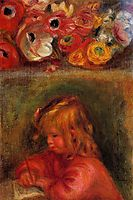 Portrait of Coco and Flowers, c.1905, renoir