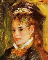 Portrait of a Young Woman, 1876, renoir