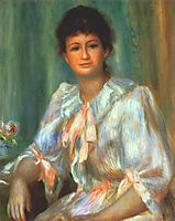 Portrait of a young woman in white, 1901, renoir