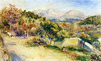 The View from Collettes, 1911, renoir