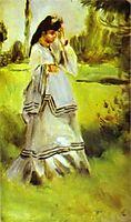 Woman in a Park, renoir