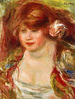 Woman Wearing a Rose Andree, 1919, renoir