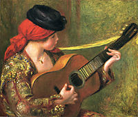Young Spanish Woman with a Guitar, 1898, renoir