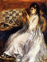 Young Woman in White Reading, c.1873, renoir