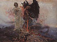 Follow me, Satan, 1895, repin