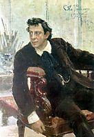 Portrait of the Actor Pavel Samoylov, 1915, repin