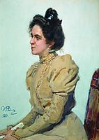 Portrait of actress Lyubov Sazonova-Shuvalova, 1899, repin