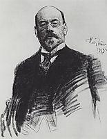Portrait of the artist I.S. Ostroukhov, 1913, repin