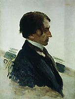 Portrait of the Artist Isaak Brodskiy, 1910, repin