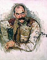 Portrait of A. Gallen Kallela, 1920, repin