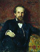 Portrait of the Narratorb of the Folk Tales V. Tschegolionkov, 1879, repin