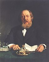 Portrait of poet and slavophile Ivan Sergeyevich Aksakov, repin