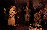 Putting a Propagandist Under Arrest, 1878, repin