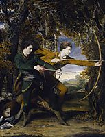 Colonel Acland and Lord Sydney: The Archers, 1769, reynolds