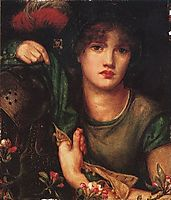 My Lady Greensleeves, 1863, rossetti