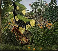 Fight between a Tiger and a Buffalo, rousseau