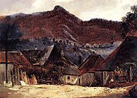 Cottages in the Jura, 1834, rousseautheodore