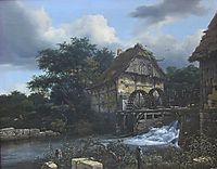 Two Watermills and an Open Sluice, 1653, ruisdael
