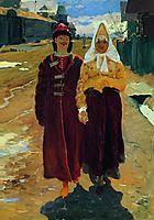 Going on a Visit, 1896, ryabushkin