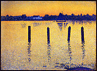 Sailboats on the River Scheldt, 1892, rysselberghe