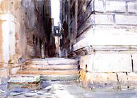 Base of a Palace, 1904, sargent