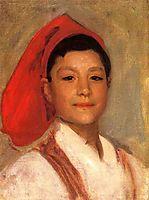 Head of a Neapolitan Boy, 1879, sargent
