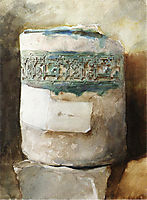 Persian Artifact with Faience Decoration, sargent