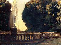 Villa Torlonia, Fountain, 1907, sargent