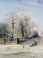 Winter landscape.Moscow, 1873, savrasov