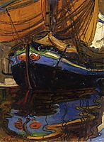 Sailing Boat with Reflection in the Water, 1908, schiele