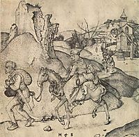 Peasant Family Going to the Market, 1475, schongauer