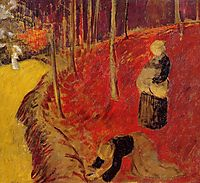 The Fern Harvesters in the Boid d-Amour at Pont Aven, c.1910, serusier