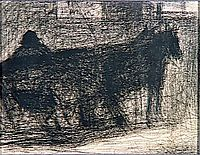Two-horse hitch, 1883, seurat