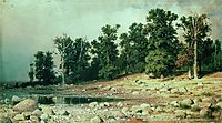 Coast of Oak grove of Peter the Great in Sestroretsk, 1885, shishkin