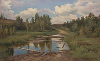 Forest landscape. Road, 1876, shishkin