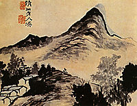 Conversation with the mountain, 1707, shitao