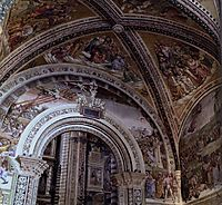 View of the Frescoes in the Chapel of San Brizio, 1502, signorelli