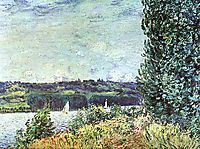 Banks of the Seine, Wind Blowing, 1894, sisley